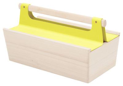 Déco - Pour les enfants - Boîte Louisette / 34 x 18 cm - Hartô - Jaune citron - Métal laqué, Tilleul