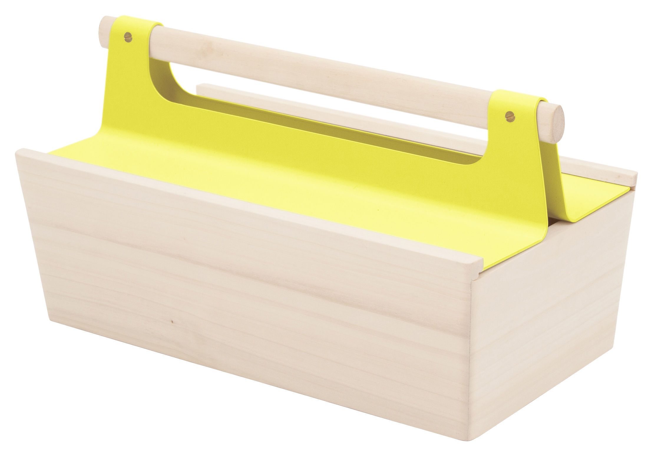 Decoration - Children's Home Accessories - Louisette Box by Hartô - Lemon yellow - Lacquered metal, Limetree