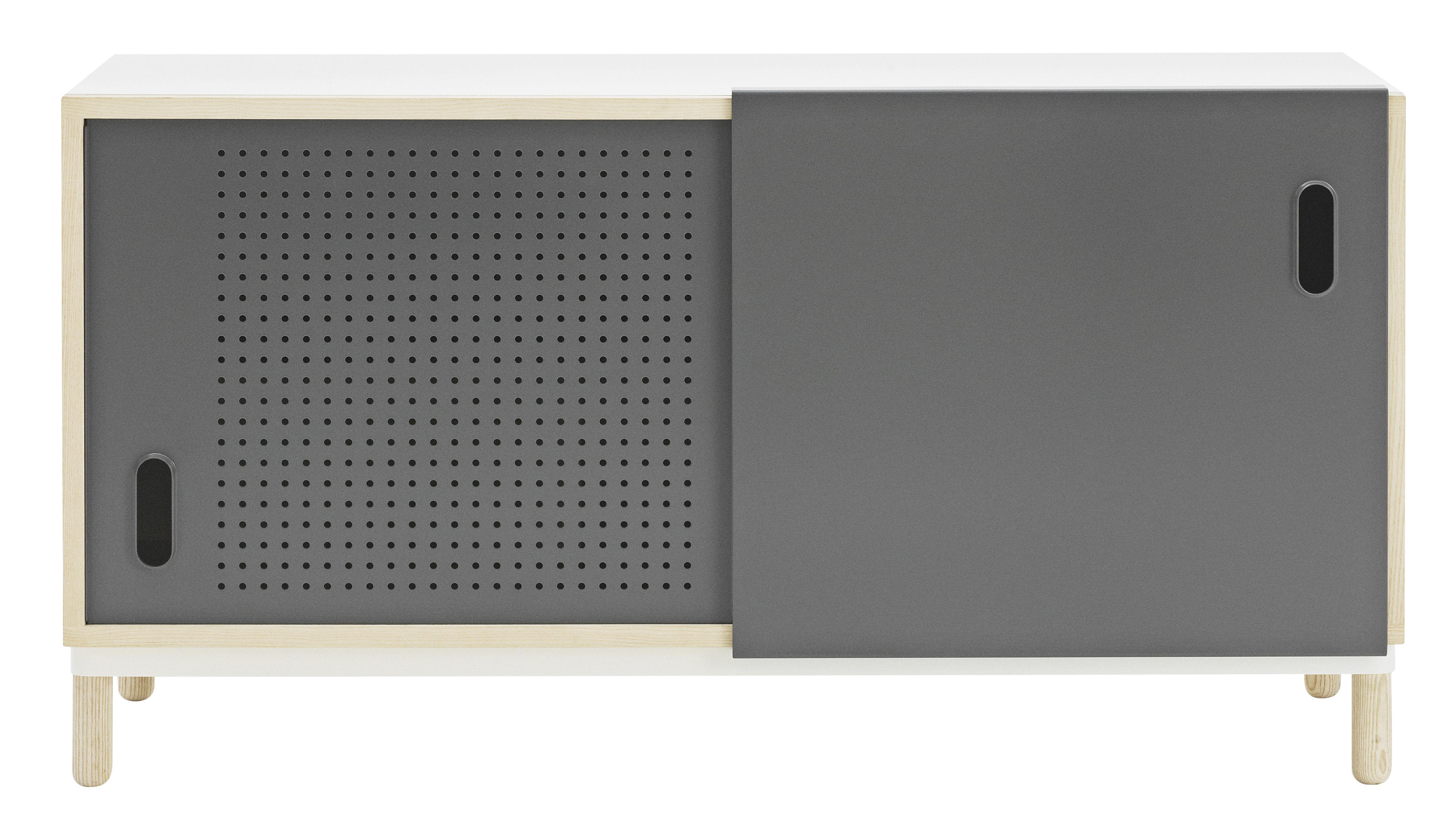 Buffet Kabino / Meuble TV - L 114 cm - Normann Copenhagen gris en métal/bois