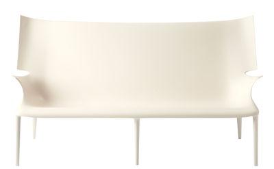 Canapé droit Uncle Jack L 190 cm Kartell blanc en matière plastique