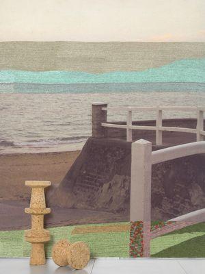 Interni - Sticker - Carta da parati panoramica Accalmie bien méritée - / 5 strisce - L 232 x H 300 cm di Domestic - Multicolore - Tessuto non tessuto