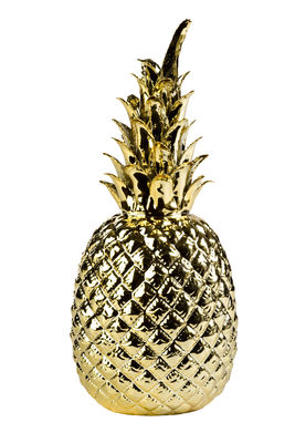 Decoration - Home Accessories - Pineapple Small Decoration - / Ø 14 x H 32 cm - Porcelain by Pols Potten - Gold - China