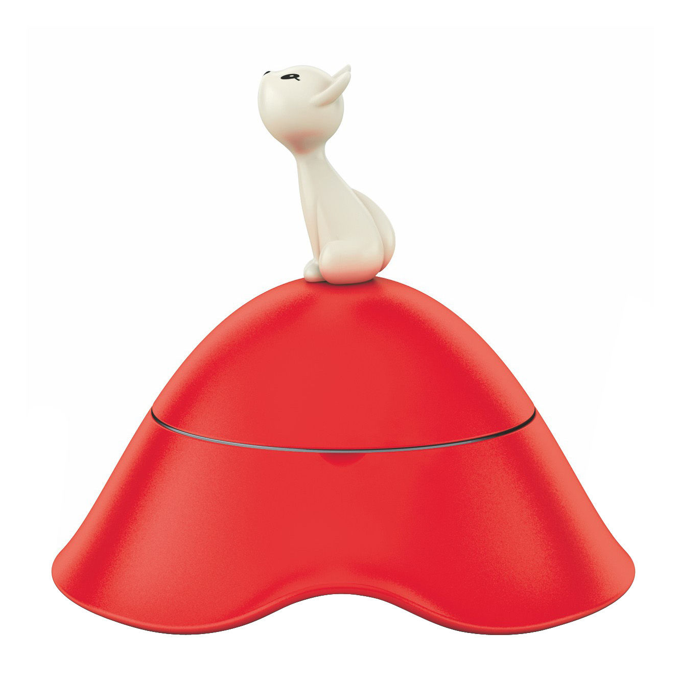 Decoration - Pets - Mio Dish - Cat bowl by A di Alessi - Red - Stainless steel, Thermoplastic resin