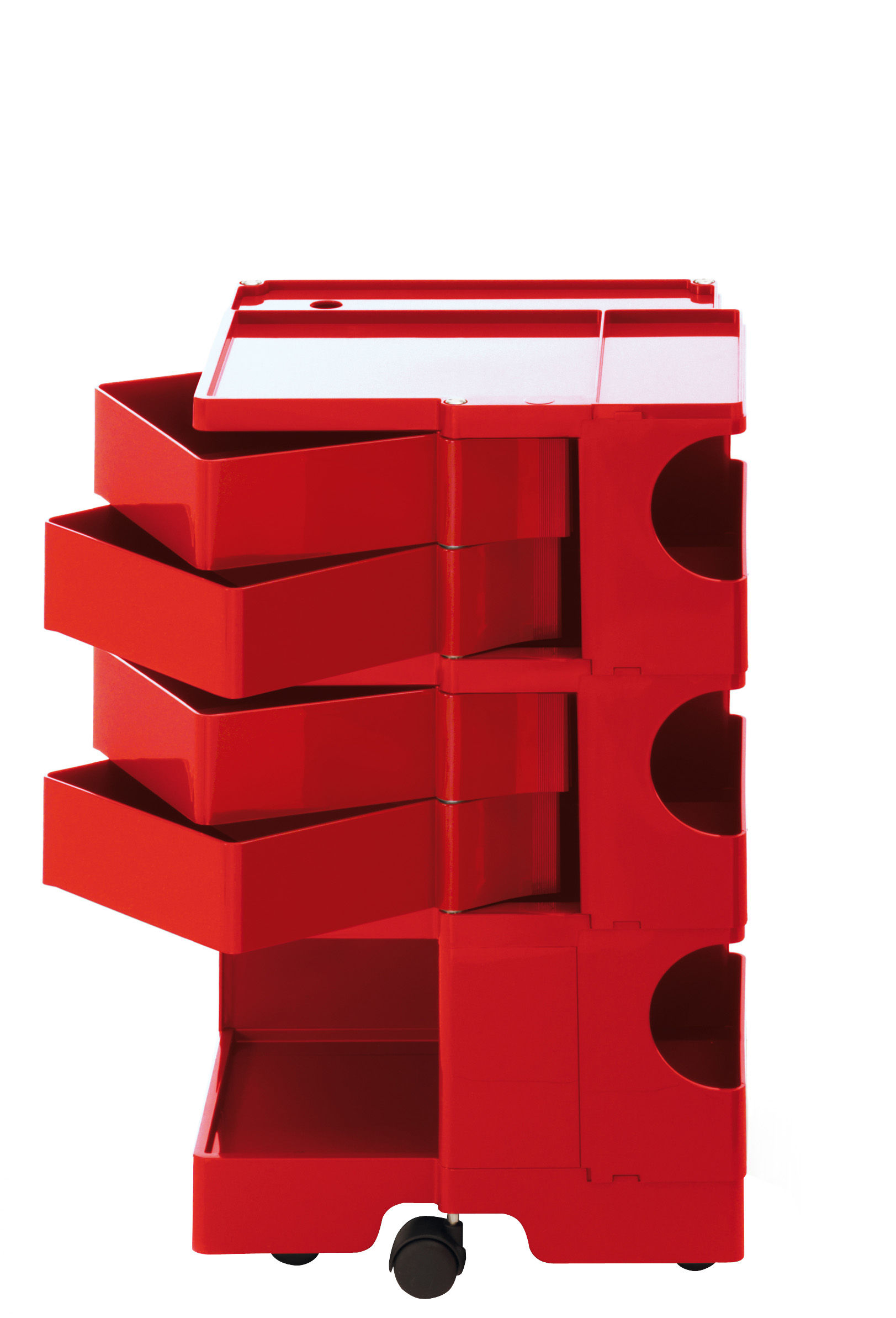 Furniture - Miscellaneous furniture - Boby Dresser - H 73 cm - 4 drawers by B-LINE - Red - ABS