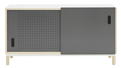 Furniture - Dressers & Storage Units - Kabino Dresser by Normann Copenhagen - Grey - Ashwood, Lacquered aluminium, MDF