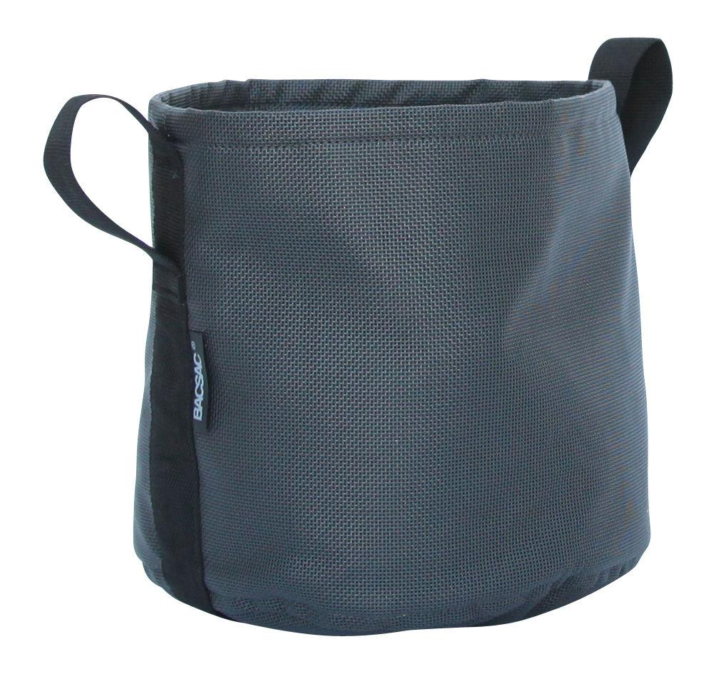 Outdoor - Pots & Plants - Batyline® Flowerpot - Outdoor- 10 L by Bacsac - Black asphalt - Batyline® fabric
