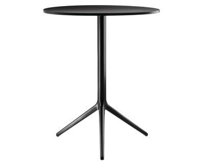 Maison et Objet - New archetyps - Central Foldable table - H 72 cm x Ø 60 cm - Varnished alu version by Magis - Black - Varnished cast aluminium, Varnished HPL