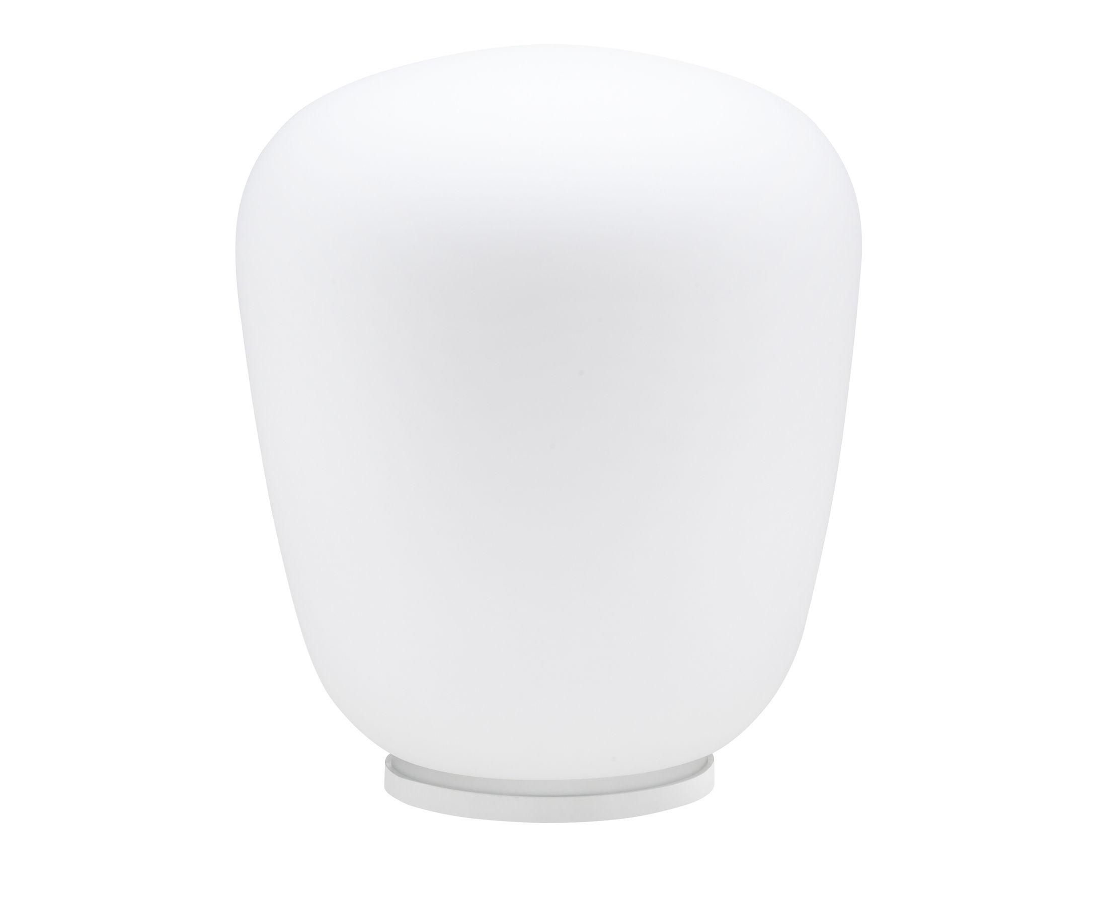 Illuminazione - Lampade da tavolo - Lampada da tavolo Baka - Ø 33 cm di Fabbian - Bianco - Vetro