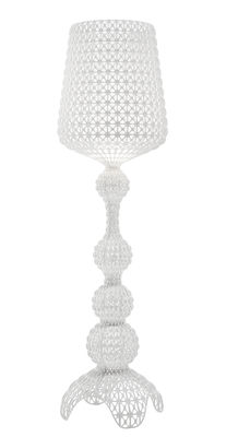 Luminaire - Lampadaires - Lampadaire Kabuki Outdoor / LED - Pour l'extérieur - H 165 cm - Kartell - Blanc opaque - Technopolymère thermoplastique