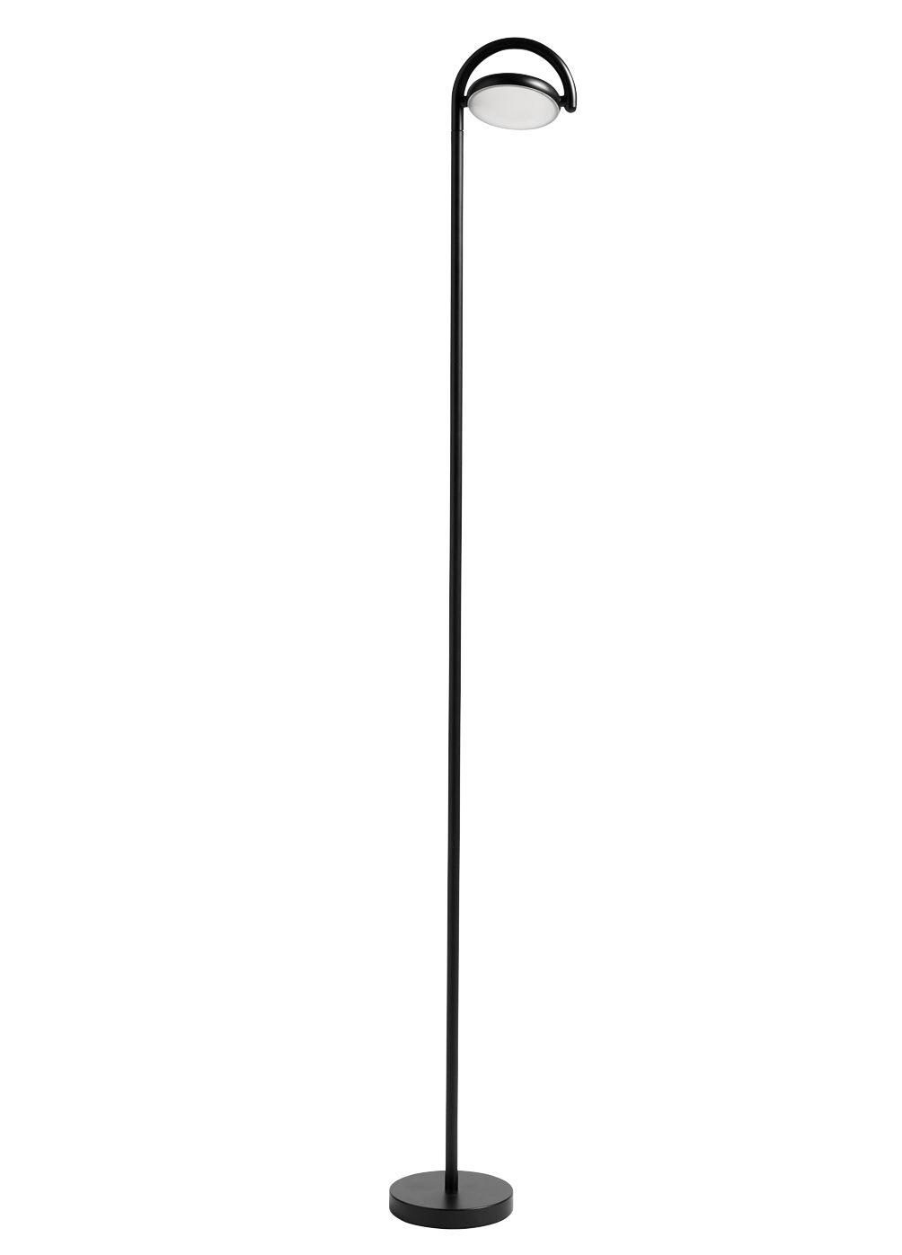 Luminaire - Lampadaires - Lampadaire Marselis / Diffuseur orientable - H 126 cm - Hay - Noir - Acier, Aluminium, Fonte de sable, Nylon, Polycarbonate