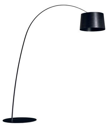 Lampadaire Twiggy LED - Foscarini noir en matière plastique