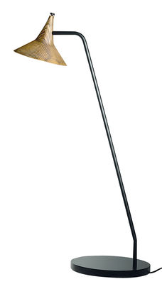 Luminaire - Lampes de table - Lampe de table Unterlinden LED / H 51,5 cm - Métal vieilli - Artemide - Laiton vieilli/ Noir - Laiton, Métal laqué
