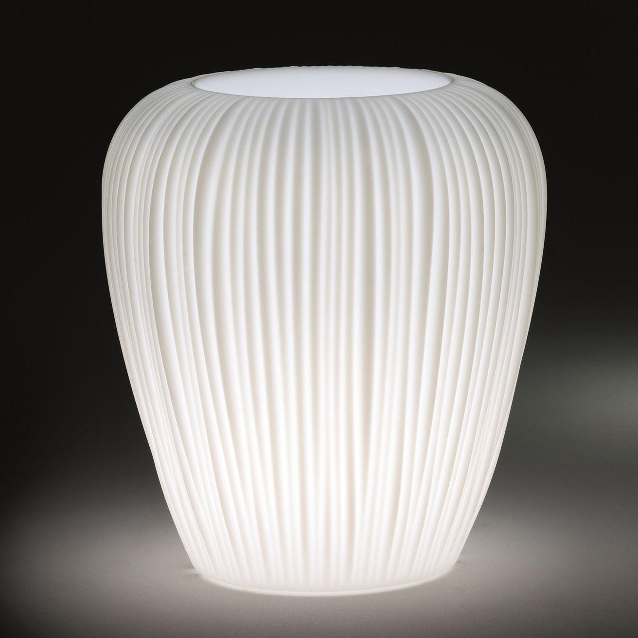 Leuchten - Außenleuchten - Skin Small leuchtender Blumentopf / H 60 cm - MyYour - Weiß - Poleasy®