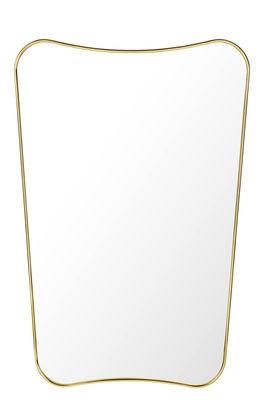 Miroir mural F.A.33 /  Gio Ponti - L 54 x H 80 cm - Gubi laiton en métal