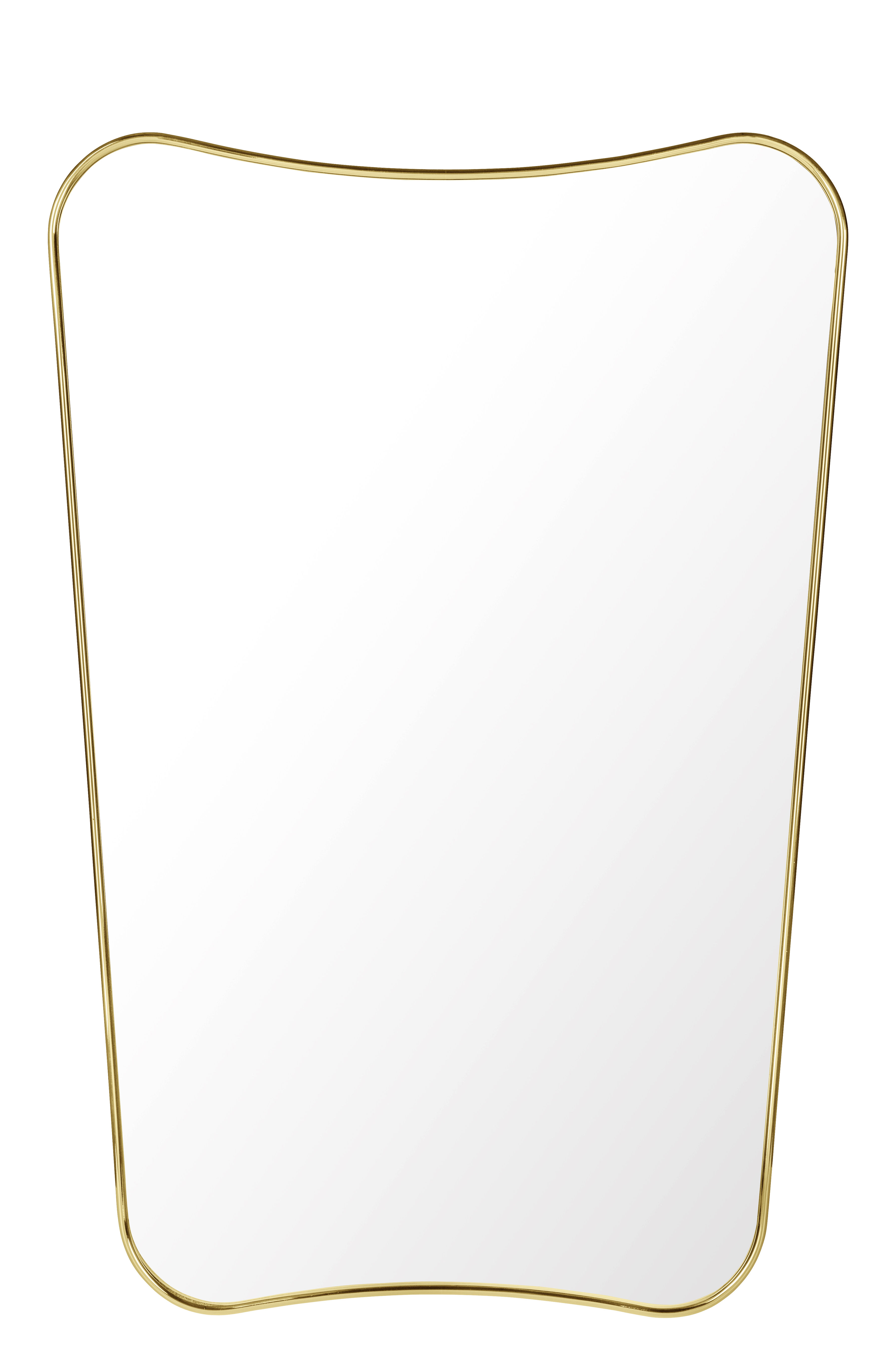 Déco - Miroirs - Miroir mural F.A.33 /  Gio Ponti - L 54 x H 80 cm - Gubi - Laiton - Laiton