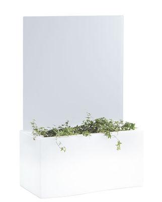 Mobilier - Paravents, séparations - Paravent H 100 cm / Pour jardinières Privé - Slide - Blanc  / H 100 cm - Plexiglas