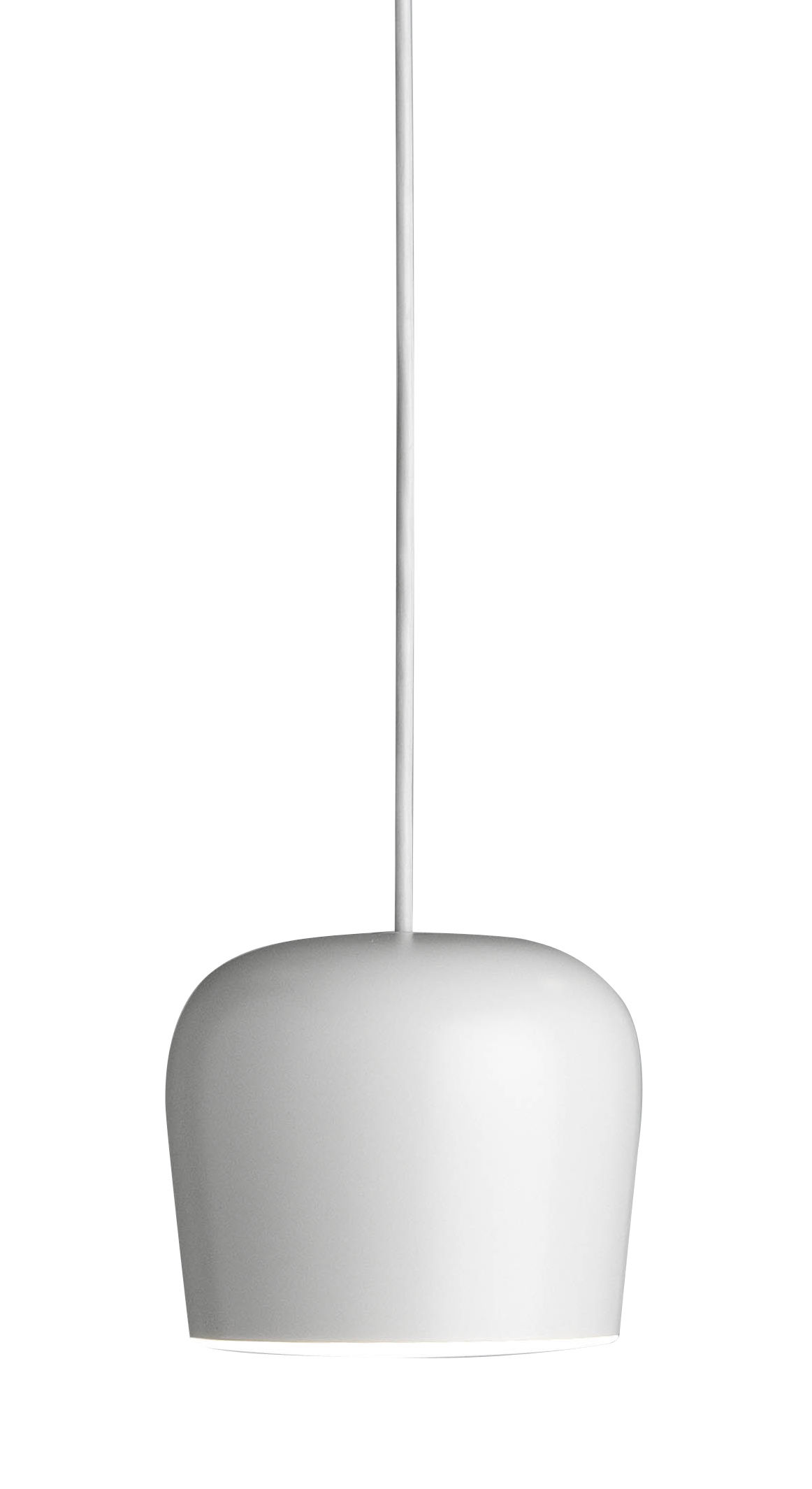 Lighting - Pendant Lighting - AIM Small Fix Pendant - LED - Ø 17 cm by Flos - White - Aluminium, Polycarbonate