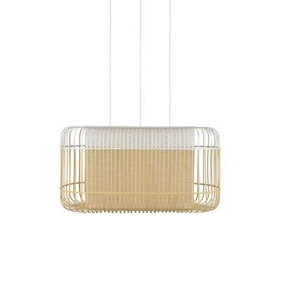 Lighting - Pendant Lighting - Bamboo Oval Pendant - / XL - 78 x 45 x H 40 cm by Forestier - Black - Bamboo