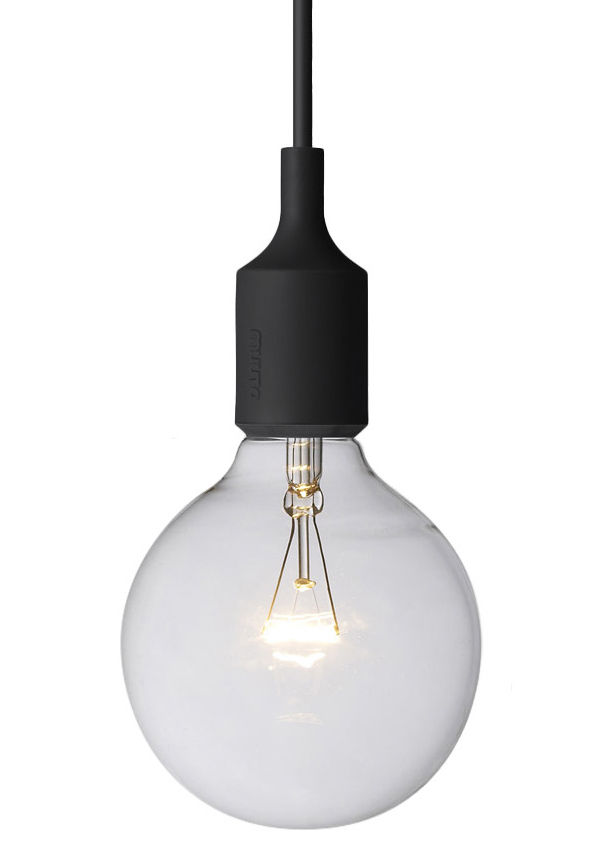 Lighting - Pendant Lighting - E27 Pendant by Muuto - Black - Silicone