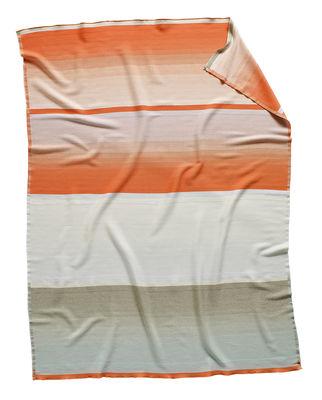 Decoration - Bedding & Bath Towels - Colour n°9 Plaid - Wool / 180 x 140 cm by Hay - Orange, grey & blue - Merinos wool
