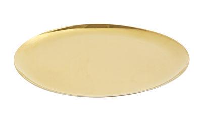 Arts de la table - Plateaux - Plateau Tray XL / Ø 35 cm - Acier - Hay - Or - Acier