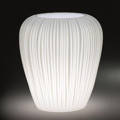 Pot de fleurs lumineux Skin Small / H 60 cm - MyYour blanc en matière plastique