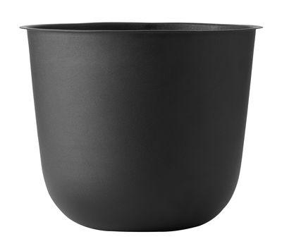 Pot de fleurs Wire - Menu noir en métal