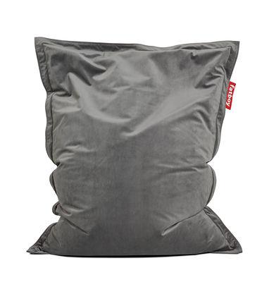 Mobilier - Poufs - Pouf Original Slim Velvet / Velours  - 155 x 120 cm - Fatboy - Taupe -  Micro-billes EPS, Velours polyester
