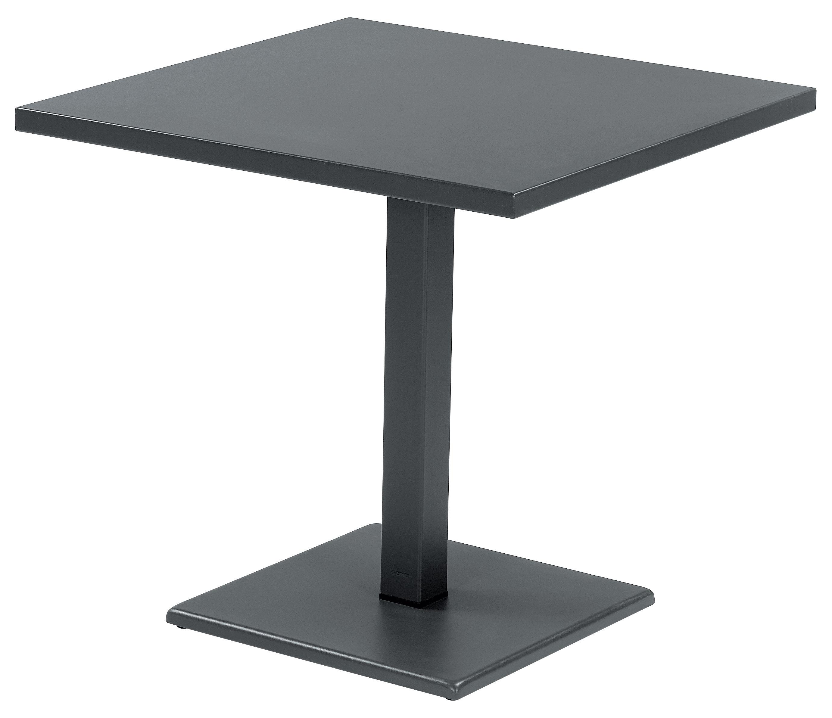 Outdoor - Tische - Round Table carrée 80 x 80 cm - Emu - Eisen (dunkel) - Stahl