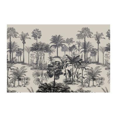 Decoration - Rugs - Tresors Rug - / 198 x 139 cm - Vinyl by Beaumont - Palmiers no. 2 / Black & White - Vinal