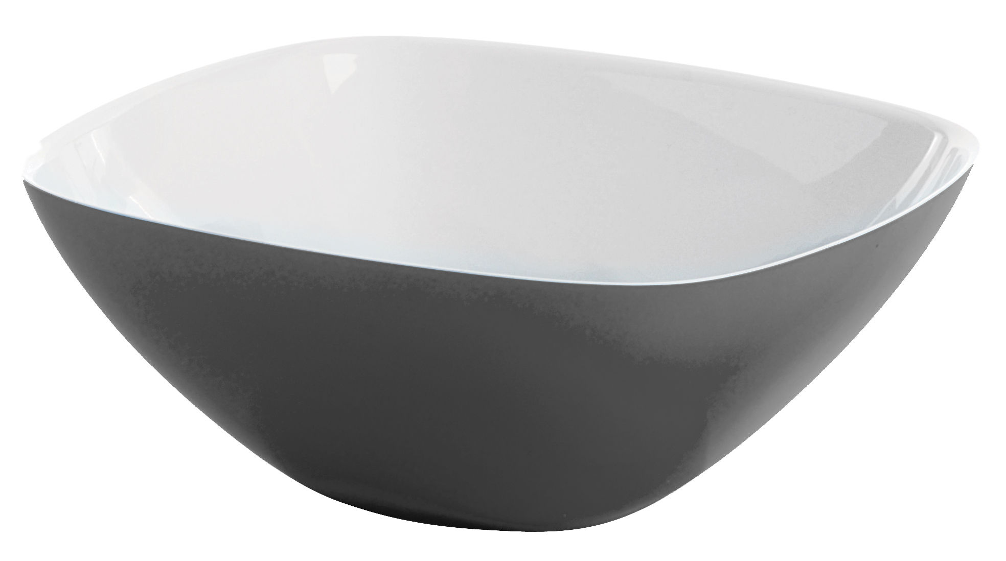 Tischkultur - Salatschüsseln und Schalen - Vintage Schale - Guzzini - Weiß - Grau - Plastik mit SAN
