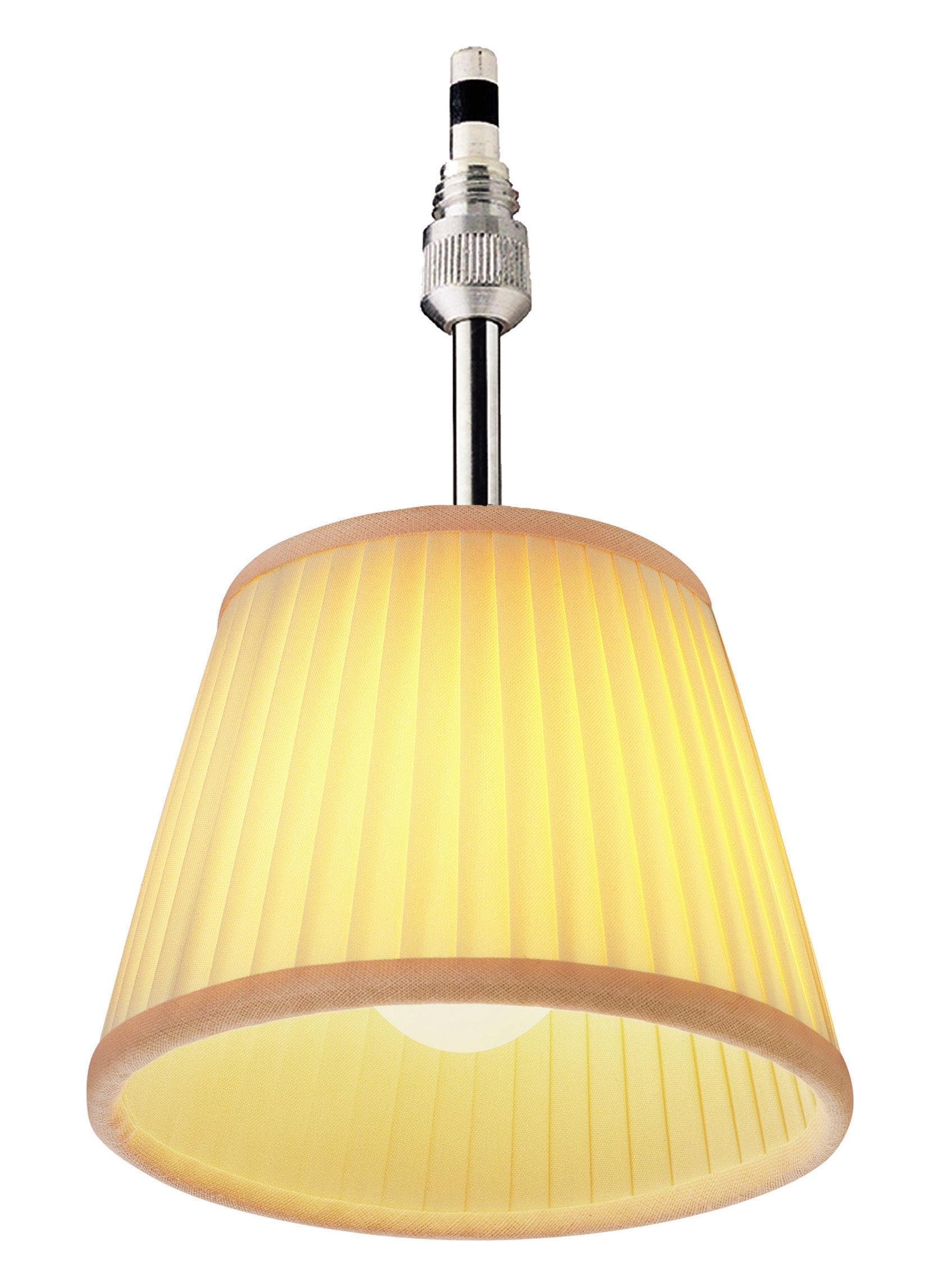 Luminaire - Suspensions - Suspension Romeo Babe Soft Ø 11cm / Version tissu - Flos - Tissu / Ivoire - Tissu