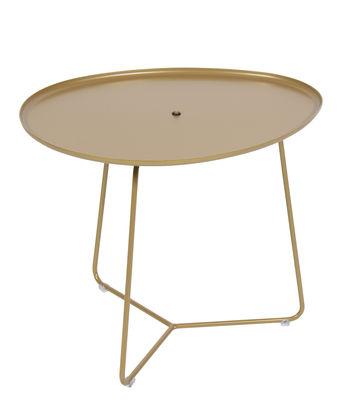 Mobilier - Tables basses - Table basse Cocotte / L 55 x H 43,5 cm - Plateau amovible - Edition limitée - Fermob - Gold Fever - Acier peint
