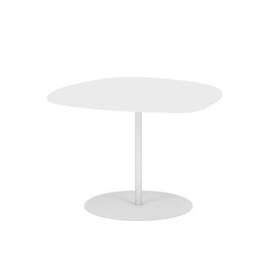Table basse Galet n°3 INDOOR / 57 x 64 x H 37 cm - Matière Grise blanc en métal