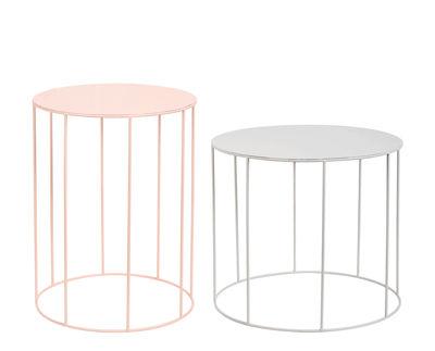 Table basse / Set de 2 - Métal - & klevering rose,gris en métal