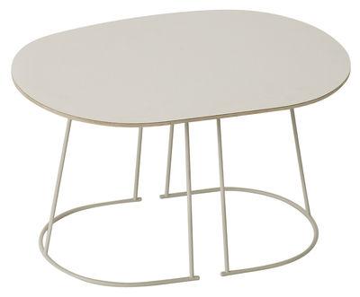 Arredamento - Comodini - Tavolino Airy - / Small - 68 x 44 cm di Muuto - Bianco / Gamba bianca - Acciaio verniciato, Compensato, Stratificato