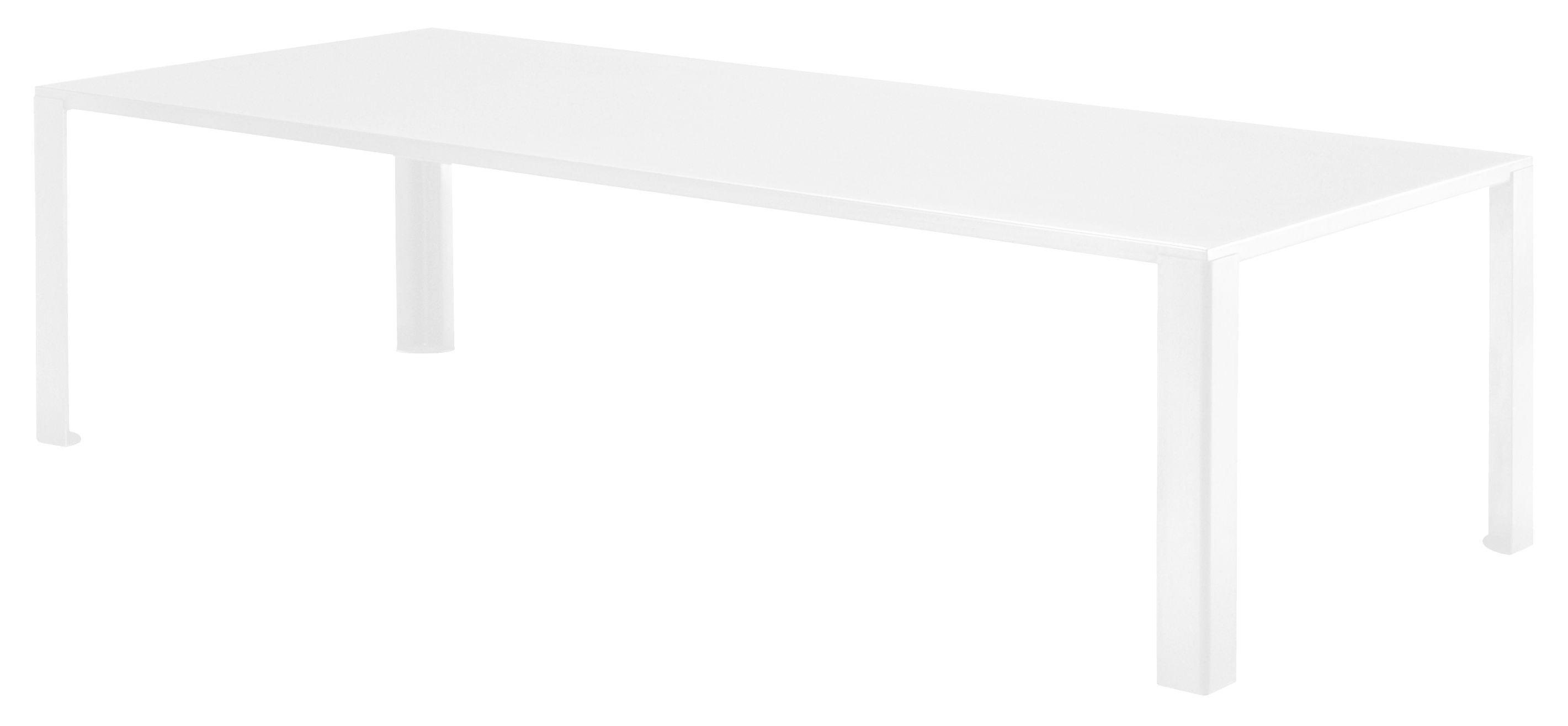 Outdoor - Tavoli  - Tavolo rettangolare Big Irony Outdoor - / L 238 cm di Zeus - Bianco - Acciaio zincato con verniciatura epossidica