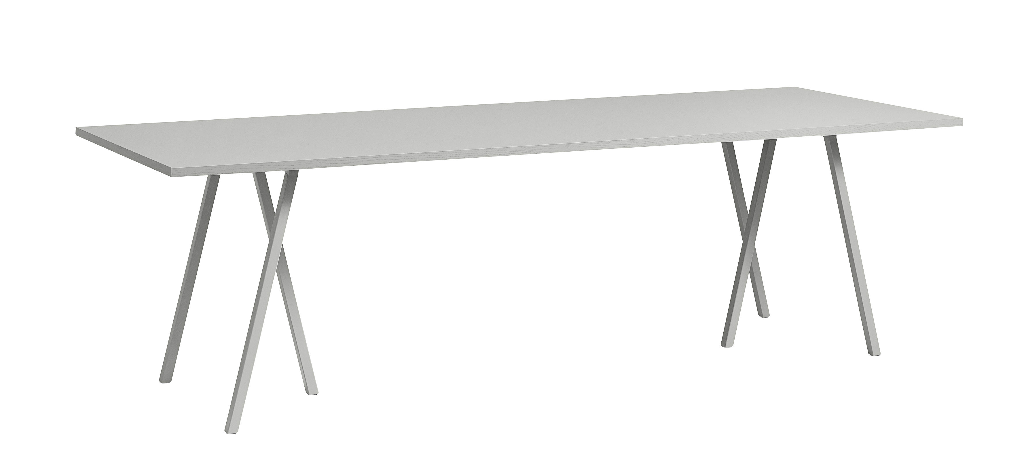 Arredamento - Tavoli - Tavolo Loop / L 180 cm - Hay - Grigio chiaro - Acciaio laccato