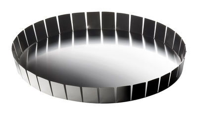 Tableware - Trays - Alle Cinque Tray - Ø 32 x H 4 cm by Serafino Zani - Polished steel outside / Mat seel inside - Stainless steel