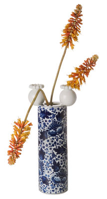Decoration - Vases - Delft Blue 1 Vase by Moooi - White & blue - China