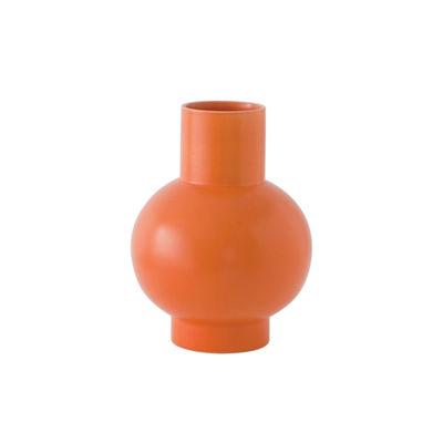 Déco - Vases - Vase Strøm Small / H 16 cm - Céramique / Fait main - raawii - Orange Vibrant - Céramique