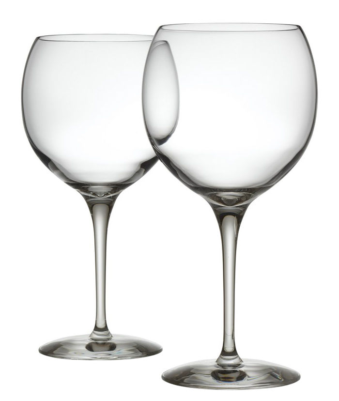 Arts de la table - Verres  - Verre à vin rouge Mami XL / Lot de 2 - Alessi - Transparent - Verre cristallin