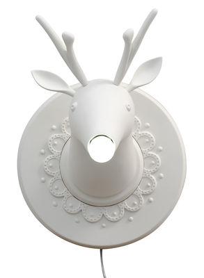 Lighting - Wall Lights - Marnin Wall light - Ceramic deer - Ø 43 x H 36 cm by Karman - White - Raw ceramic
