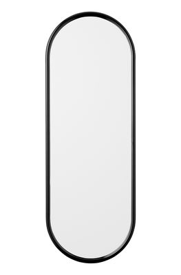 Decoration - Mirrors - Angui Wall mirror - / L 39 x H 108 cm by AYTM - Black - Glass, Lacquered iron