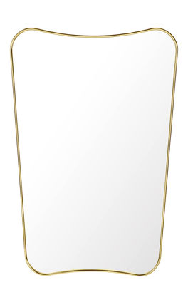 Decoration - Mirrors - F.A.33 Wall mirror - Gio Ponti / L 54 x H 80 cm by Gubi - Brass - Brass