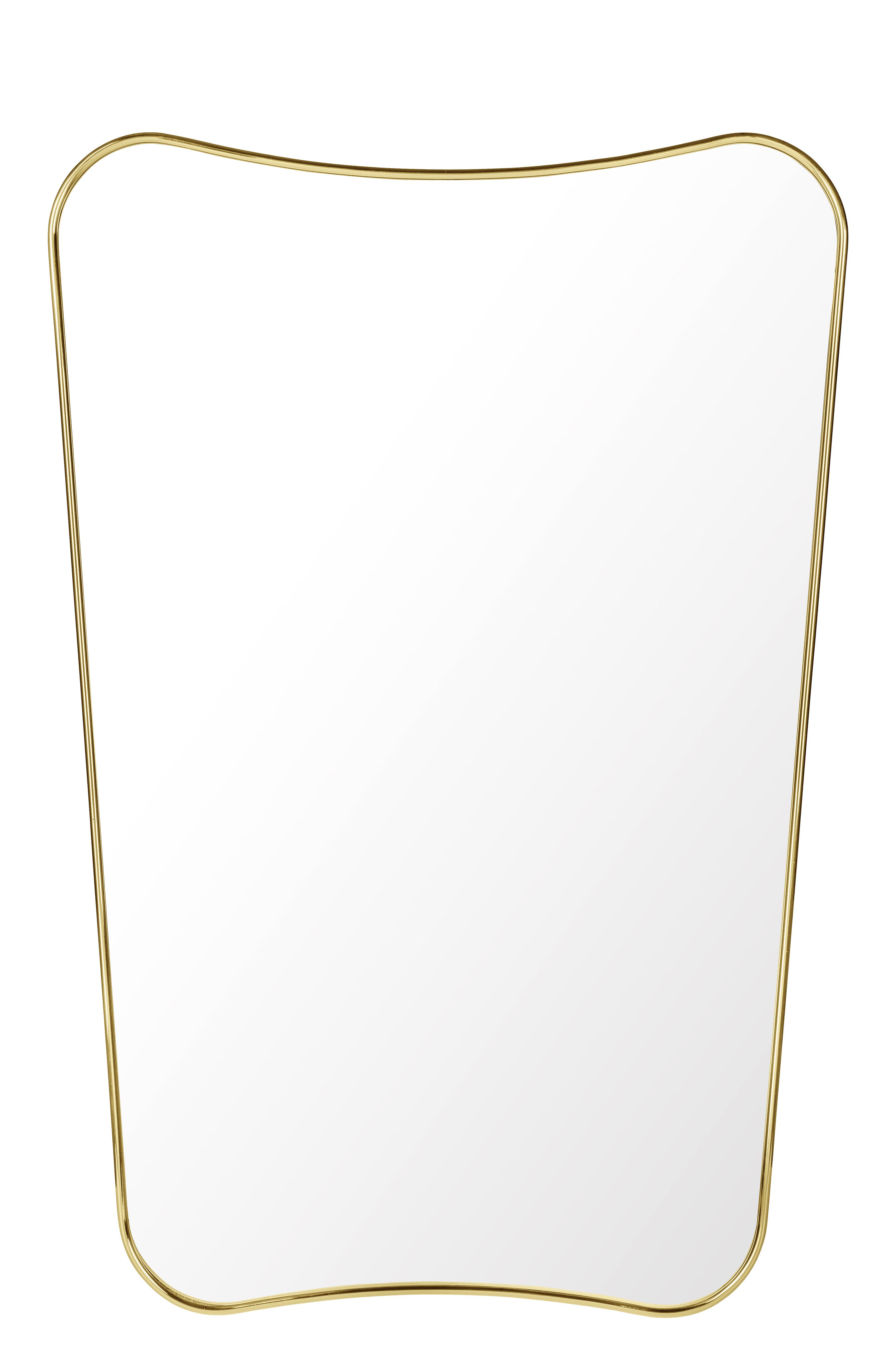 Dekoration - Spiegel - F.A.33 Wandspiegel / Gio Ponti - L 54 x H 80 cm - Gubi - Messing - Messing