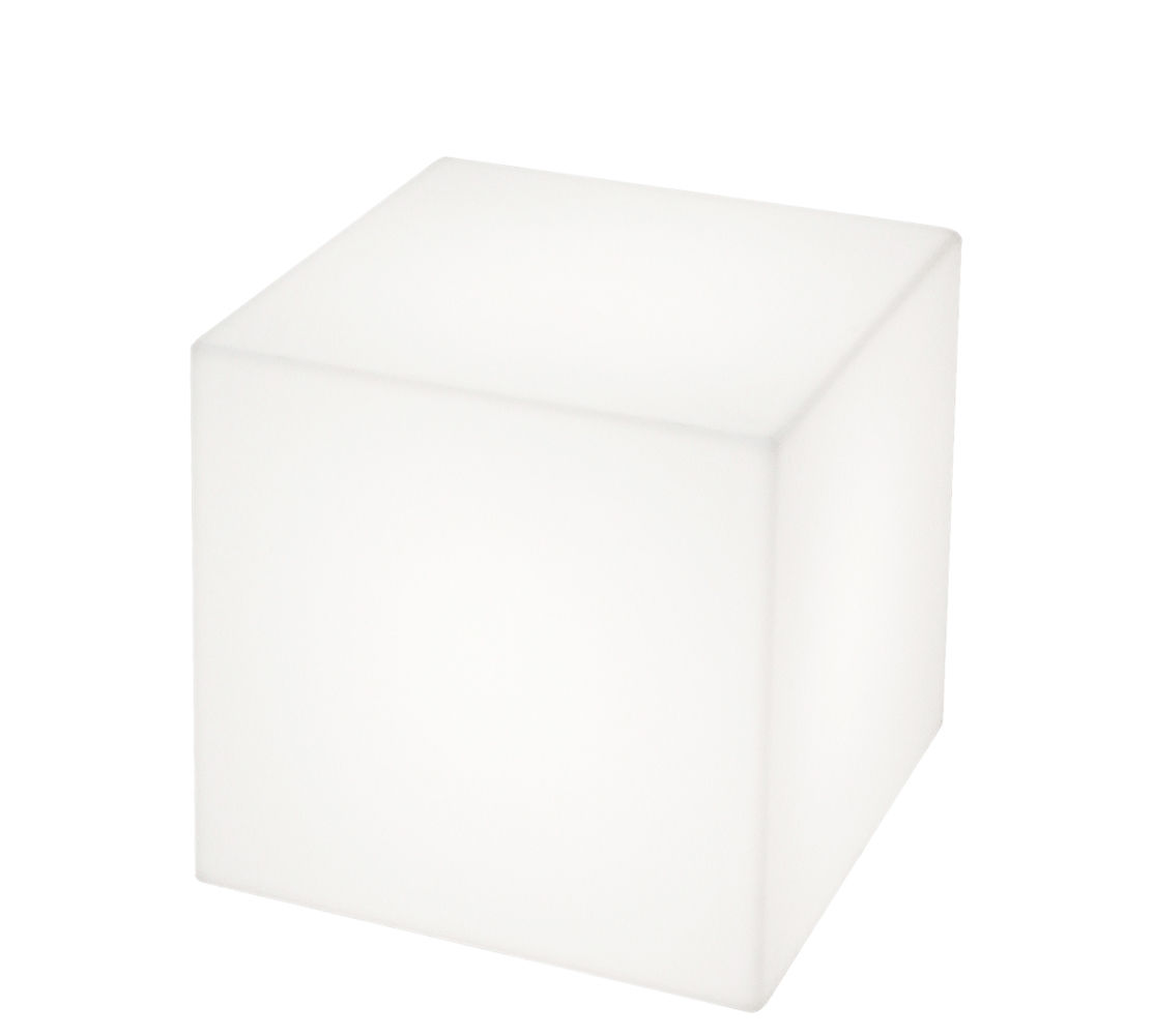Furniture - Poufs & Floor Cushions - Cubo LED Wireless lamp - Wireless - 30 x 30 x 30 cm by Slide - White / Indoor - 30 x 30 x 30 cm - recyclable polyethylene