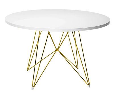 Table ronde XZ3 / Ø 120 cm - Magis blanc,or en métal