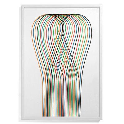 Affiche encadrée Pierre Charpin - Loop 1 / Edition limitée & numérotée - 81 x 110 cm - The Wrong Shop multicolore en papier