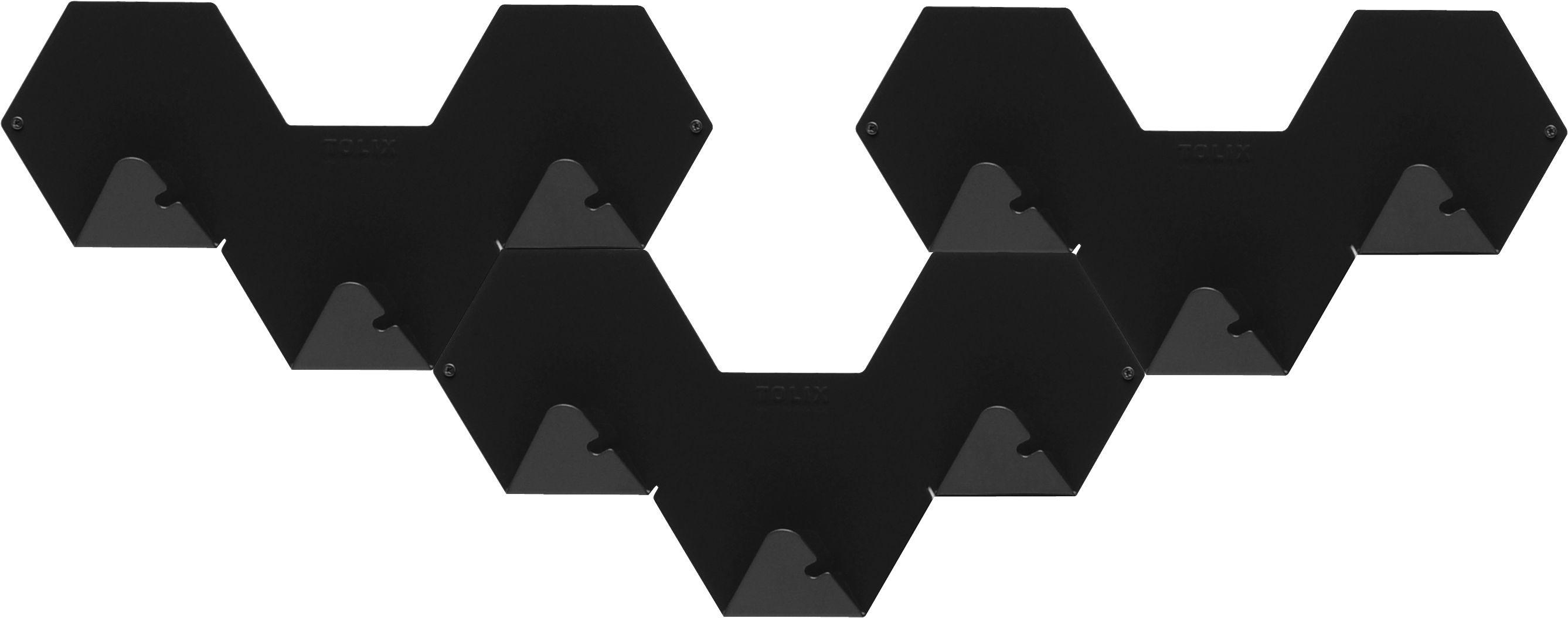 Arredamento - Appendiabiti  - Appendiabiti Simplex - confezione da 3 di Tolix - Nero - Acier recyclé laqué